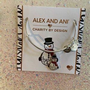 Alex and Ani snowman bangle
